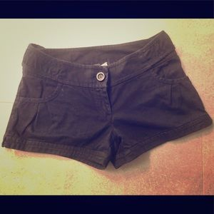 H&M Black 100% Cotton Shorts in Size 6